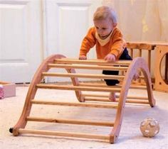 I love this climbing structure for infants/toddlers