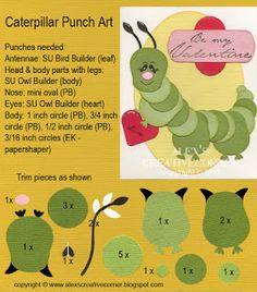 Alex's Creative Corner: Caterpillar Valentine Card