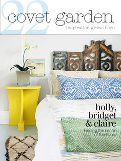 Covet Garden Magazine issue22  Artist Holly's place is full of light, textiles and lots of inspiration.