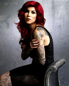 Kat red... love her hair color, way to chicken myself... maybe a wig for halloween :)