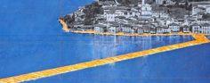 Il sogno del ponte che galleggia sul lago Christo presenta l'opera ai bergamaschi - Val Calepio e Sebino Sarnico