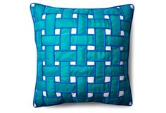 Woven 20x20 Pillow, Turquoise
