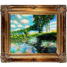 Poplars on the Banks of the Epte by Monet Framed Original Painting   Wayfair