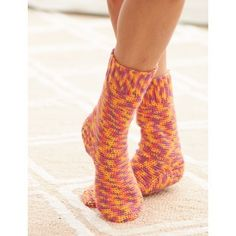 """Fun Multicolor Crochet Sock Pattern - I will probably not go """"multicolor"""" with this one."""