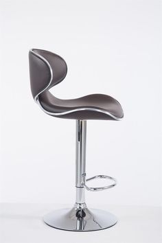 Brown Modern Bar Stool Metal Faux Leather Seat Cafe Pub Kitchen Chair Gas Lift for sale online Modern Bar Stools, Kitchen Chairs, Komfort, Brown, Las Vegas, Leather, Home Decor, Design, Products
