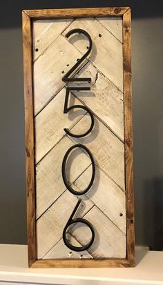 Precious Tips for Outdoor Gardens - Modern Rustic Houses Exterior, Modern Farmhouse Exterior, Up House, House In The Woods, Rustic House Numbers, Diy House Numbers, Farmhouse House Numbers, House Address Sign, House Address Numbers