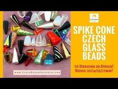 Video! SPIKE CONE Czech Glass Beads - Current Collection   #czechbeadsexclusive #czechglassbeads