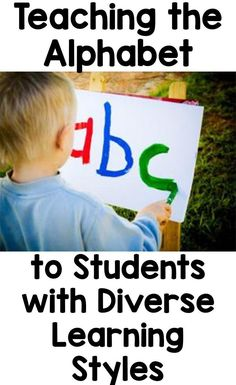How to teach the alphabet to a classroom of students with diverse learning styles