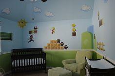 ThinkGeek :: Nintendo Wall Graphics... wow what a nursery !!! haha