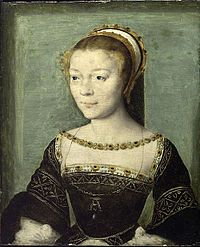 Anne de Pisseleu d'Heilly (1508 - 1580). Mistress of Francois I from 1526 to his death in 1547. She had considerable influence over Francois and the French court.