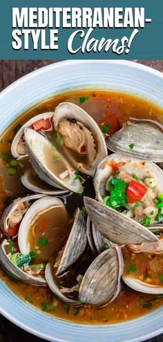 Hands down the BEST steamed clams recipe we've tried! And super easy to follow. You'll love the bright Mediterranean flavors in the garlic white wine broth! So good!!!