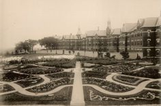 Danvers State Mental Hospital formal garden..Maintained by patients