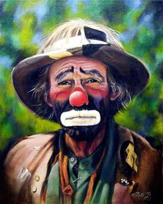 Artist Rusty Rust - Famous for his paintings of the World's Famous Clown, Emmett Kelly Jr.