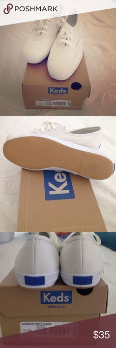 Classic Keds brand new never worn 7.5 An American Classic! White Keds never worn. Small fingerprint on back of left shoe. Keds Shoes Sneakers