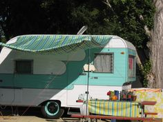 1961 Vintage Travel Trailer Oasis Camper Canned Ham-- $8,500