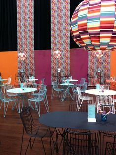Spence & Lyda installation of Missoni fabrics and Mass Productions chairs for DesignEx.