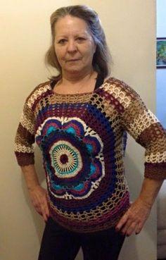 """A MAGIA DO CROCHÊ - Katia Missau: Blusas """"Mandala"""" Feitas Através da Minha Apostila"""