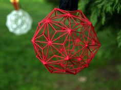 Image of Christmas Ball - Thingiverse print Noel Christmas, Perfect Christmas Gifts, Christmas Images, Christmas Balls, Christmas Tree Ornaments, Impression 3d, Printing Services, 3d Printing, 3d Printed Objects