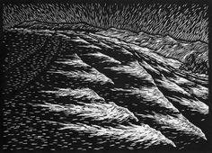 BIG SEA 37 X 52 CM    EDITION OF 50 LINOCUT ON HANDMADE JAPANESE PAPER $750