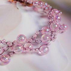 Růžovofialkový náhrdelník