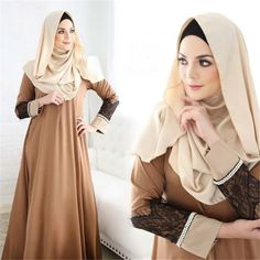 Cheap women abaya, Buy Quality islamic clothes directly from China islamic fashion clothes Suppliers: Women fashion Abaya Jilbab Islamic Clothes Muslim Cocktail Maxi Lace Dress Robe femme musulman traditional arabic clothing 30 Outfits, Fashion Outfits, Womens Fashion, Fashion Clothes, Chiffon Dress Long, Lace Dress, Abaya Mode, Hijab Stile, Abaya Fashion