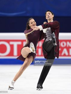 Ice dance pair Alisa Agafonova and Alper Ucar of Turkey perform their free dance programme during the ISU European Figure Skating Championships on January 29, 2015 in Stockholm, Sweden.