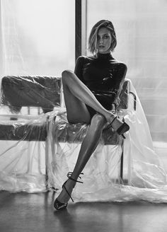 Anja Rubik by Chris Colls for Vogue Ukraine, February 2017 styled by Julie Pelipas