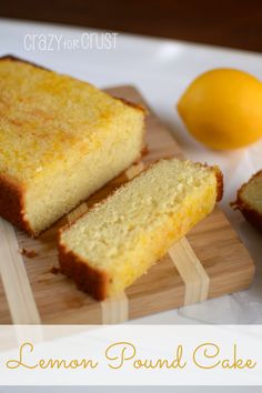 Lemon Pound Cake - the best one I've had! | crazyforcrust.com | #lemon