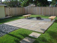Easy patio ideas on a budget cheap patio floor ideas inexpensive . easy patio ideas on a budget Backyard Patio Designs, Diy Patio, Backyard Landscaping, Landscaping Ideas, Modern Backyard, Stone Landscaping, Paved Backyard Ideas, Backyard Decks, Concrete Patios