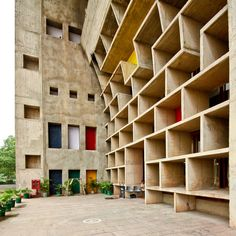 Chandigarh, India. Designs by Le Corbusier. Not the original colors picked out by LeCo but the change is nice.