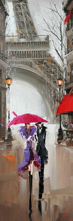 under red umbrella Modern Paris Effiel Tower Painting Picture City Buildi. - -lovers under red umbrella Modern Paris Effiel Tower Painting Picture City Buildi. Tour Eiffel, Paris Kunst, Parasols, Umbrellas, Umbrella Art, Umbrella Painting, Art Abstrait, Pictures To Paint, Belle Photo