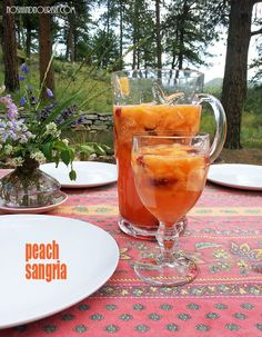 Peach Sangria: the perfect summer drink