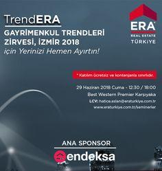 TrendERA Gayrimenkul Trendleri Zirvesi Endeksa sponsorluğunda Ege'de, İzmir'de! | Endeksa #trendera @ERATurkiye #doğrufiyat Best Western
