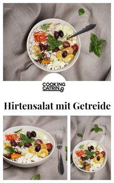 Hirtensalat, Reissalat, Quinoasalat, Feta Salat, Gemüse Salat, Lunch Bowl, Salat Lunch Bowl, Reis Lunch Bowl, Mittagessen, Blitzrezept, vegetables, quick and easy recipe, salad recipe, lunch idea, healthy, veggie recipe...http://www.cookingcatrin.at/hirtensalat-hirtensalat/