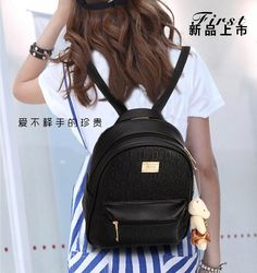 Backpacks are no longer reserved for school children. Cute Mini Backpacks, Stylish Backpacks, Girl Backpacks, Guess Backpack, Black Backpack, Leather Backpack, Bags For Teens, Girls Bags, Black Handbags