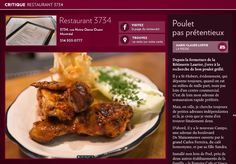 Restaurant 3734, poulet pas prétentieux - La Presse+ Restaurant Montreal, St Hubert, Beef, Chicken, Food, Grilled Chicken, Going Out, Meat, Essen
