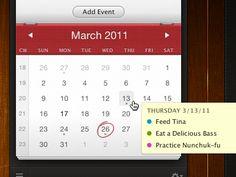 Great calendar design and User Interface