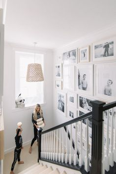 Staircase Gallery Wall also the stair rail! – Staircase Gallery Wall also the stair rail! – DIY stair rainbow galConcrete stairs – a BlickfEEK! I'm so excited to fi