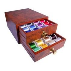Madeira Mini Rayon Thread Chests - 48 Spools 200m I need this!