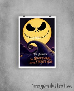 Poster The Nightmare Before Christmas - O Estranho Mundo de Jack
