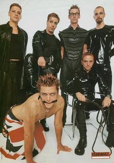 Rammstein: Sexy leather mode. And... sexy flag mode.