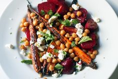 Roasted Beet and Carrot Salad with Chickpeas and Goat Cheese - The Amateur Gourmet