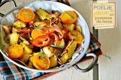 Recette Poêlée bio de pâtisson aux pommes de terre