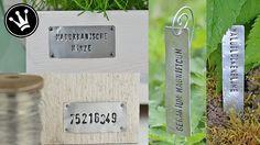 DIY - Metallschilder aus Getränkedosen/Alublech mit Schlagstempel selber...
