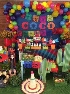 Ideas For Birthday Background Party Mexican Birthday, Mexican Party, Halloween Birthday, 4th Birthday Parties, Birthday Party Decorations, 2nd Birthday, Birthday Ideas, Fiesta Theme Party, Birthday Background