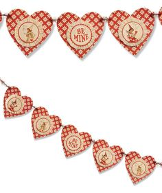 Layered Heart Garland from The Holiday Barn