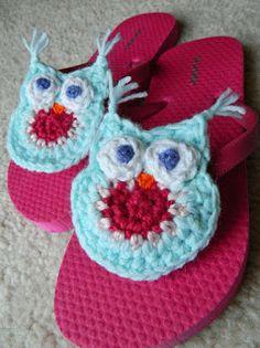 crochet d lane: Flipping For Whimsy Owl Flops