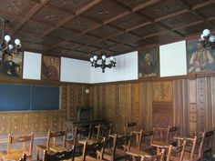Serious global inspiration to be found in the Nationality Rooms in the Cathedral of Learning at the University of Pittsburgh - Yugoslav Room