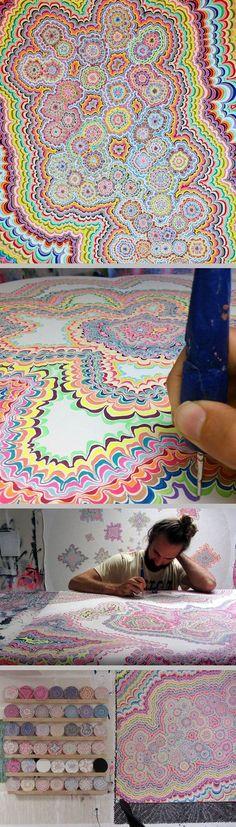 Serotonin; Happiness and Spiritual States ~ artist Kelsey Brookes #art #abstract #myt
