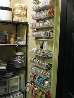 I have been putting my craft room back together after the move and knew that I wanted a better way to store my various dies. Craft Room Storage, Craft Organization, Storage Ideas, Craft Rooms, Scrapbook Organization, Organization Station, My Sewing Room, Sewing Rooms, Art Studio Room